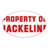 Property of JACKELINE Oval Bumper Stickers