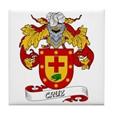 Cruz Family Crest Tile Coaster