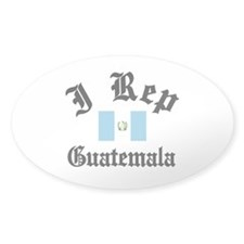 I rep Guatemala Oval Decal