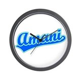 Retro Amani (Blue) Wall Clock