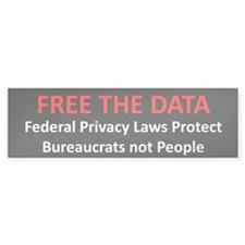 Free The Data Bumper Sticker (10 pk)