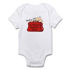 Going to PopPop's Funny Infant Bodysuit