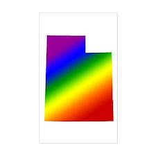 Utah Gay Pride Rectangle Decal