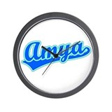 Retro Amya (Blue) Wall Clock
