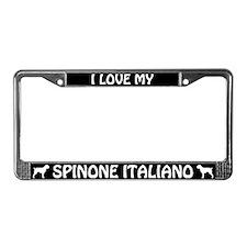 I Love My Spinone Italiano License Plate Frame