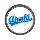 Retro Anahi (Blue) Wall Clock