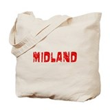Midland Faded (Red) Tote Bag