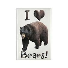 Helaine's American Black Bear Rectangle Magnet (10