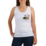 Crested Ducks Trio Women's Tank Top