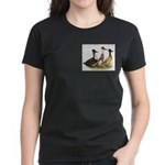 Crested Ducks Trio Women's Dark T-Shirt