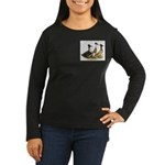 Crested Ducks Trio Women's Long Sleeve Dark T-Shir