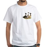 Crested Ducks Trio White T-Shirt