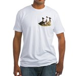 Crested Ducks Trio Fitted T-Shirt