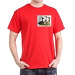 Crested Ducks Trio Dark T-Shirt