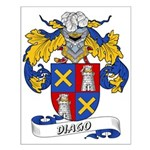 Diago Family Crest Small Poster