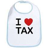 """I Love Tax"" Bib"