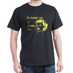 Grammar Lady is Watching You Dark T-Shirt