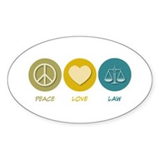 Peace Love Law Oval Decal