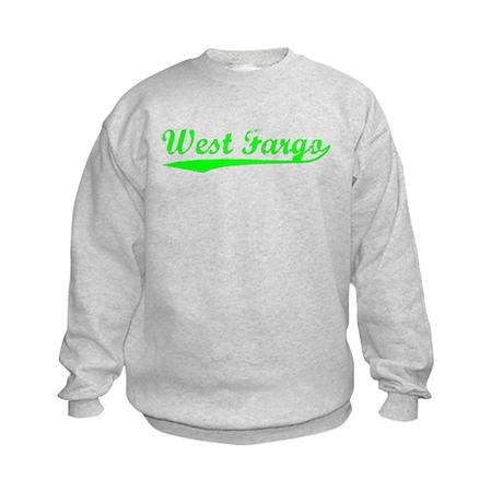 Vintage West Fargo (Green) Kids Sweatshirt