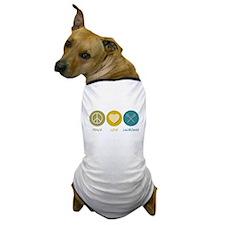 Peace Love Lacrosse Dog T-Shirt