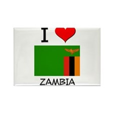 I Love Zambia Rectangle Magnet (10 pack)
