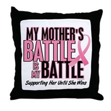 My Battle Too 1 (Mother BC) Throw Pillow