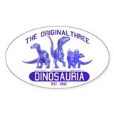 Blue Dinosauria Oval Decal