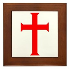 Red Cross/White Background Framed Tile