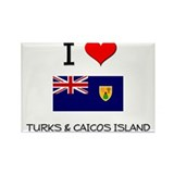 I Love Turks & Caicos Island Rectangle Magnet (10