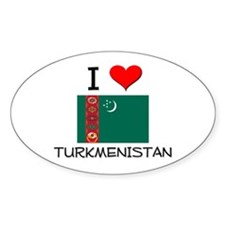 I Love Turkmenistan Oval Decal