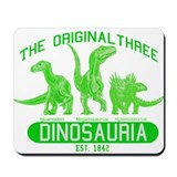 Green Dinosauria Mousepad