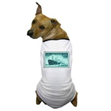 Merchant Marine Military Stamp Dog T-Shirt