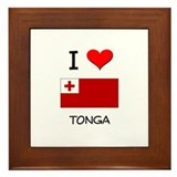 I Love Tonga Framed Tile