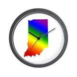 Indiana Gay Pride Wall Clock