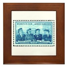 Women in Military Stamp Framed Tile