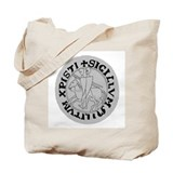 Old Style Templar Seal Tote Bag