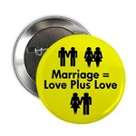 The Marriage Equation 2.25&quot; Button