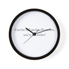Rounders Wall Clock