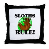 Sloths Rule! Throw Pillow