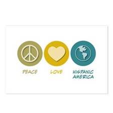 Peace Love Hispanic-American Studies Postcards (Pa