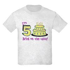 Fifth Birthday Kids Light T-Shirt