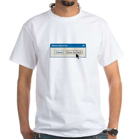 Save The Earth - PC version White T-Shirt