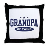 Grandpa of Twins Throw Pillow