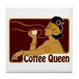 Nouveau Coffee Queen Tile Coaster