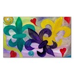 Mardi Gras Fleur de Lis Rectangle Sticker 50 pk)