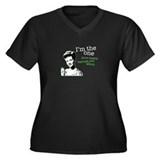 Mama Warning Women's Plus Size V-Neck Dark T-Shirt
