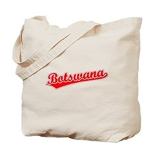 Retro Botswana (Red) Tote Bag