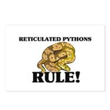 Reticulated Pythons Rule! Postcards (Package of 8)