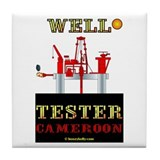 Well Tester Cameroon Tile Coaster