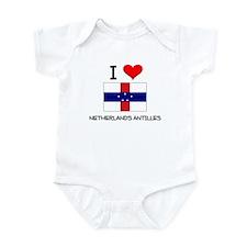 I Love Netherlands Antilles Infant Bodysuit